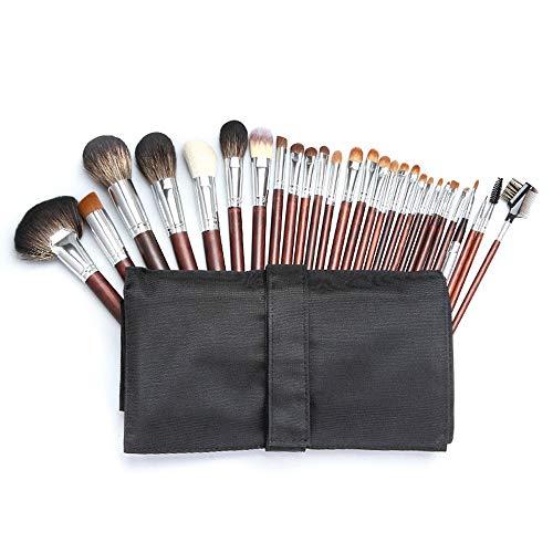 Pinceau de Maquillage Ensemble de pinceaux à Maquillage de 28 PCs Fond de Teint synthétique de qualité supérieure à Base de Poudre Kabuki Pinceaux Correcteur Ombres à paupières Pinceaux de Maquillage