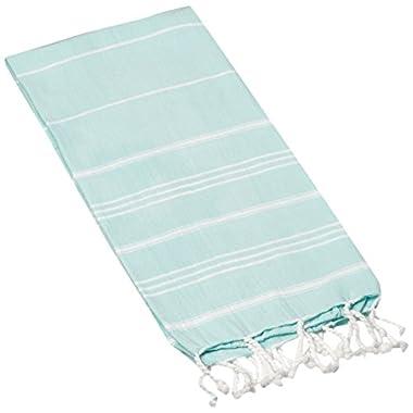 Cacala Hand Face Turkish Peshtemal Fouta Kitchen Baby Care Towel, 23 x 36, Aqua Marine
