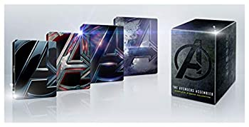 Avengers 4k + Blu Ray + Digital Complete 4 Movie Steelbook Collection Endgame + Infinity War + Age Of Ultron