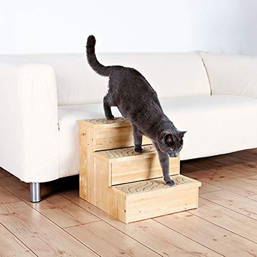 Trixie petstair escaleras para perros y gatos, de abedul, 40x 3845cm-Alfombra cubierta pasos Base para