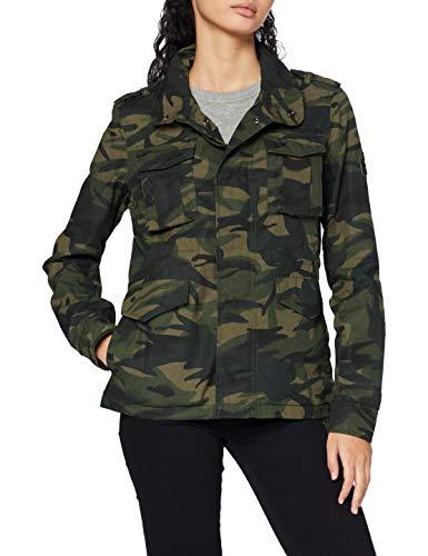 Superdry Ripstop Rookie Jacket Chaqueta, Verde (Camo F28), XS (Talla del fabricante:8) para Mujer