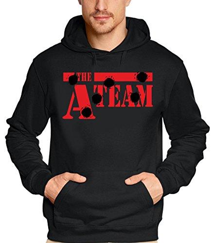 Coole-Fun-T-Shirts Sweatshirt A-TEAM - HOODIE, schwarz, L, 10580_schwarz_rot_GR.L
