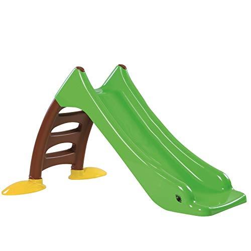 TikTakToo Stabile Kleinkinderrutsche für Kinder ab 1 Jahr Kinderrutsche Garten mit Wasseranschluss als WasserrutscheKinder Rutsche Rutschbahn Outdoor Gartenrutsche (Apfel grün)