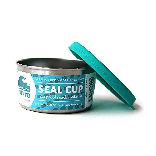 ECOlunchbox Blue Water Bento | Seal Cup Solo, Runddose aus Edelstahl mit...