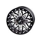 4/156 Teton Beadlock Wheel 15x7 5.0 + 2.0 Machined/Black for Polaris RANGER 900 XP 2013-2019