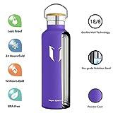 Super Sparrow 750ml (Lavendel) Trinkflasche mit 2 auswechselbaren Kappen - 4
