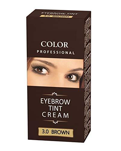 Henna Color 3.0 Braun Creme für Augenbrauen Henne Öko bis zu 4 Wochen Farbintensität, Professional Augenbrauenfarbe cremiges Henna color kit 15g + 15g
