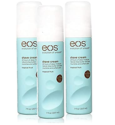 Triple Pack eos Evolution Of Smooth - 3x Ultra Moisturising Ladies Shaving Shave Cream - Tropical Fruit Flavour