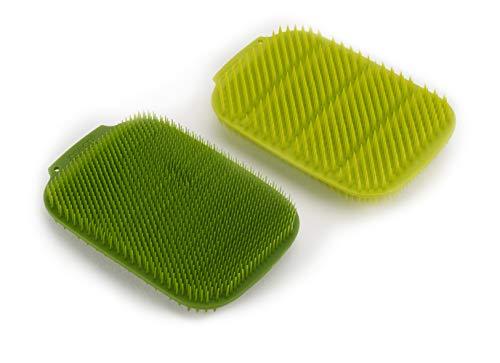 Joseph Joseph CleanTech Estropajo para Fregar (Paquete de 2 Unidades) - Verde/Verde Oscuro