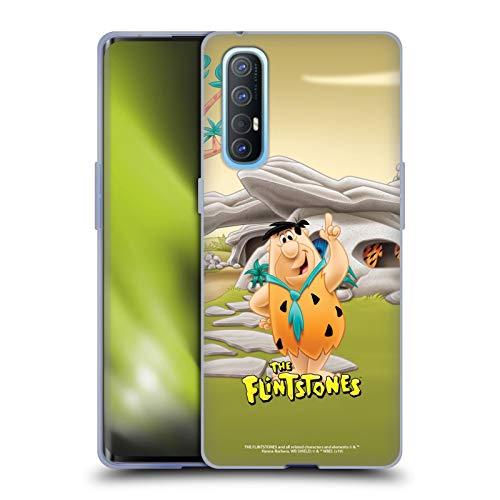 Head Case Designs Licenciado Oficialmente The Flintstones Fred Picapiedra Personajes Carcasa de Gel de Silicona Compatible con OPPO Find X2 Neo 5G