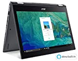 Acer Spin 5 SP515-51GN-83YY, 15.6' Full HD Touch, 8th Gen Intel Core i7-8550U, GeForce GTX 1050, Alexa Built-in, 8GB DDR4, 1TB HDD, Convertible, Steel Gray