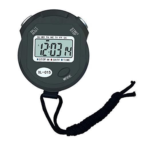 WyaengHai Stop Horloge Timer 2 stks Elektronische Stopwatch Timer Hardlopen Training Zwemmen Scheidsrechter Voor Fitness Student Competitie Alarm Counter Timer