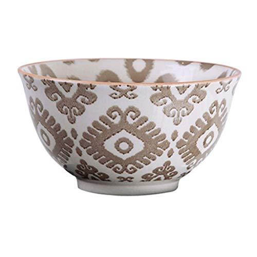 Tazón Plato de sopa de cerámica Bandeja de pasta casera vintage Plato de ensalada de frutas Vajilla 12x6.4cm vajillas hogar, tazón retro