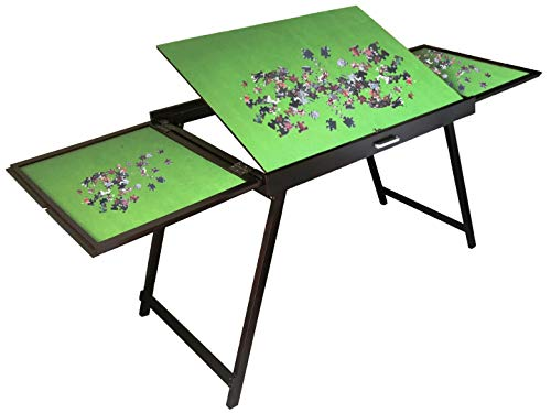 Wooden Jigsaw Puzzle Table for 1500 Pieces Puzzles, Portable Folding Table for Puzzle Games,Best Birthday for Puzzle Enthusiast for Adults and Kids