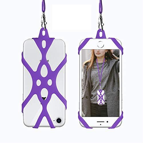 ROCONTRIP Estuche de Correa para el Cuello del teléfono Celular, Funda a Prueba de Golpes para el iPhone X 8 7 6 6S Plus Samsung Galaxy S8 S7 Edge LG Huawei (Púrpura)
