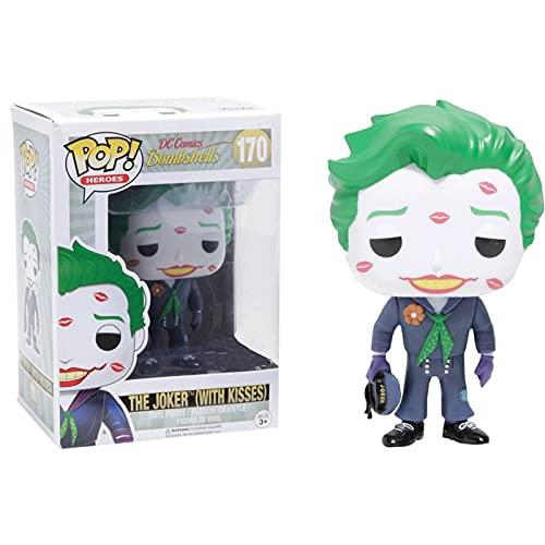 Funko Pop Heroes : DC Comics Bombshells - The Joker (with Kiss) Figure Gift Vinyl 3.75inch for Heros Movie Fans Chibi