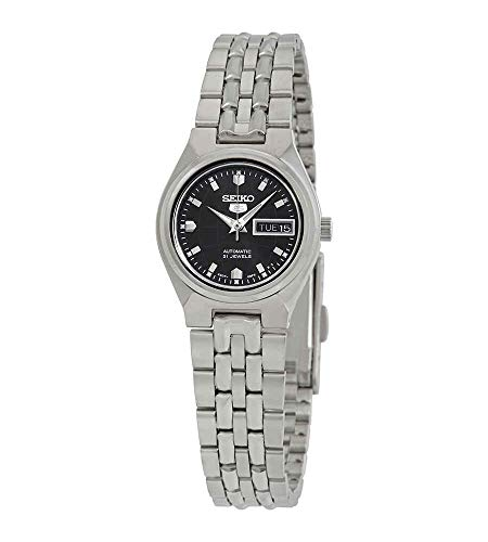 Women Seiko SYMK43 Seiko 5 Seiko 5 Stainless Steel Case and Bracelet Black DIal