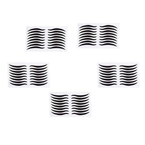 40Pairs schwarze Eyeliner-Aufkleber, reizvolles temporäres doppeltes Augenlid-Band - schwarz natürliche unsichtbare selbstklebende Augenlinie Streifenaufkleber falscher Eyeliner sofortige Augen