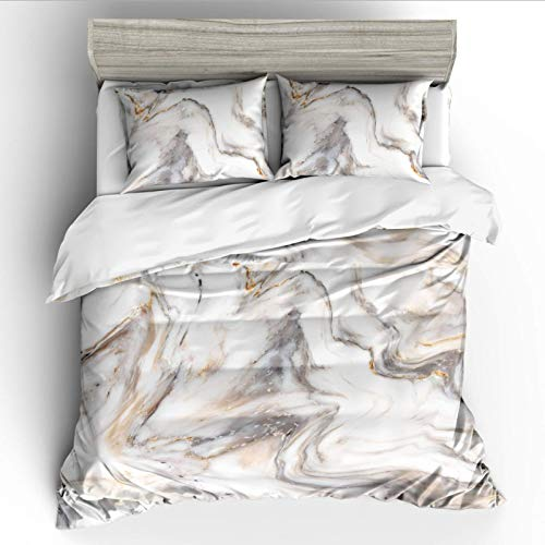 Duvet cover and pillowcase bedding quilt cover single double room king size bed-white