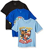 Nickelodeon Little Boy's Toddler Paw Patrol Toddler Boys T-Shirt 3-Pack, Black/Royal/Light Blue, 5T