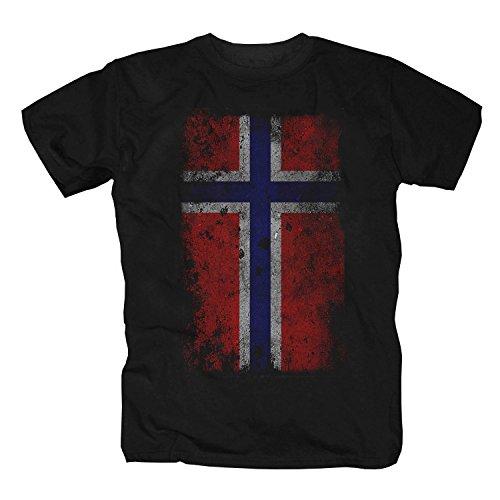 Norwegen Fahne Oslo Skandinavien Shirt Unisex T-Shirt (3XL)