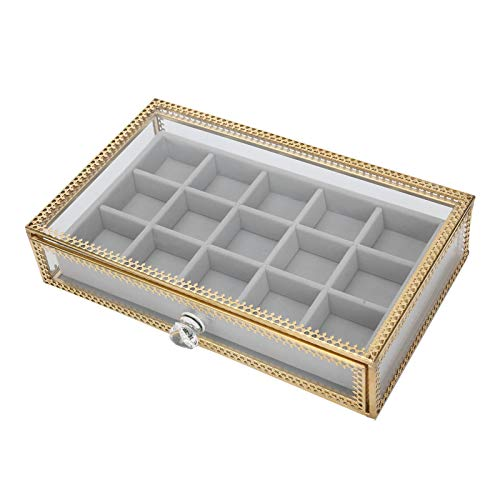 Caja de almacenamiento para uñas de dedo Caja de almacenamiento para joyería Caja de almacenamiento para decoración de uñas Cajón Caja de almacenamiento Anillos de esposa para collares