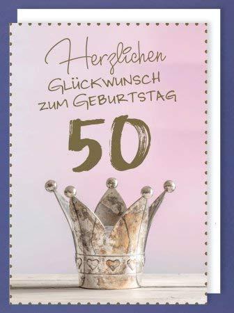 XL Geburtstagskarte Herzlichen Glückwunsch zum 50 Geburtstag
