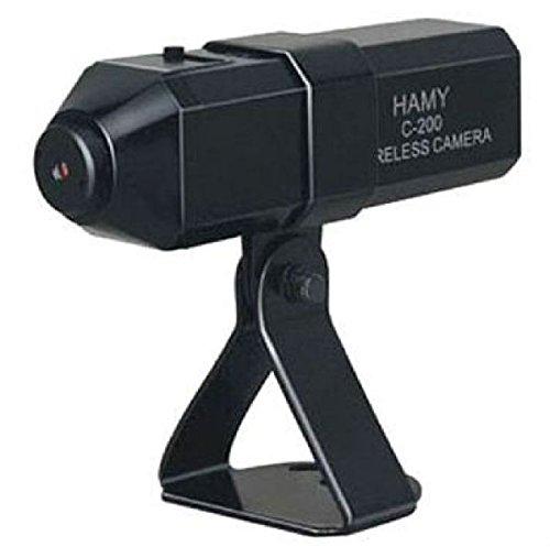 830T Farb Funk Kamera (kabellos durch Akku in der Kamera) mit Netzteil überträgt Bild und Ton - Kanäle 1 bis 4 direkt an der Kamera einstellbar - hier nur die Kamera mit Netzteil zur Systemerweiterung von KesCom®