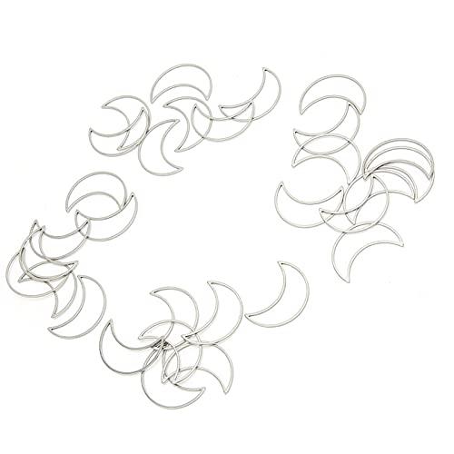 Bisel abierto, hermoso bisel abierto de metal exquisito práctico mutifuctional para hacer manualidades para bricolaje para niñas para amantes de la artesanía(Grande * 30)