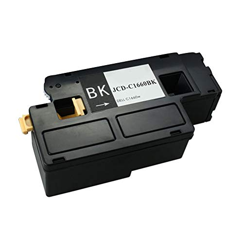 C1660W Toner Cartridge, Suitable for DELL C1660W, Strong Compatibility, Clear Printing, no harm to Printer (with chip)-Black