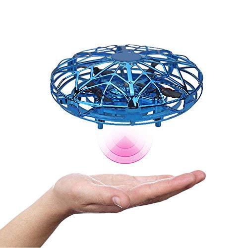 Infrarot Induktions-Mini-Drohne für Kinder, Flugspielzeug Drohne RC Fliegender Ball Handgesteuerter Hubschrauber Quadrocopter mit LED Licht Infrarot Induktions Flying Ball für Jungen Mädchen