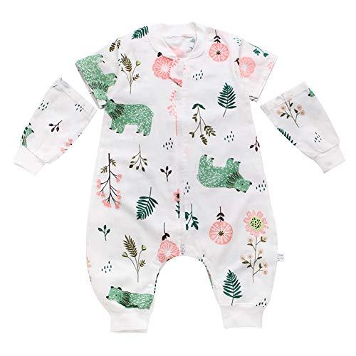 Happy Cherry Baby Kleinkind Frühling Sommer Schlafsack mit Beinen Langarm Baumwolle Kugelschlafsack Dünn Strampelsack