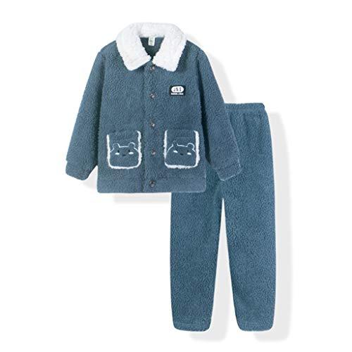 ZYSWP GEIWOKAI Calentado for Invierno Recién llegados Pijamas Niños Franela Pijama Set Baby Girl Dibujos Animados Impresión de Niños Ropa de Dormir Pijamas Infantiles (Size : 175cm)