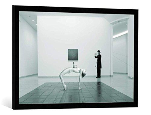 Kunst für Alle Cuadro con Marco: Christine Von Diepenbroek The Artificial Desk - Impresión artística Decorativa con Marco, 90x60 cm, Negro/Canto Gris