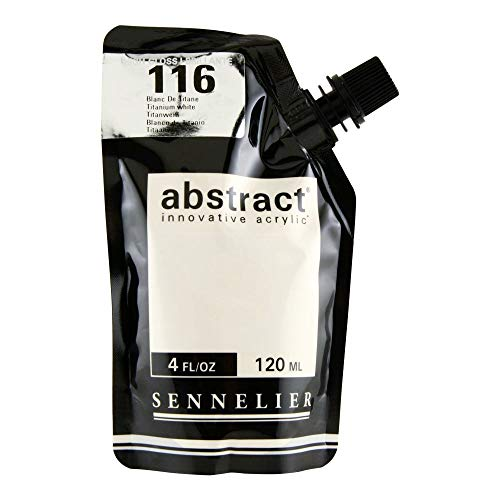 Sennelier Abstract Innovative Heavy Body Acrylic Paint, 120ml Pouch, Gloss Titanium White