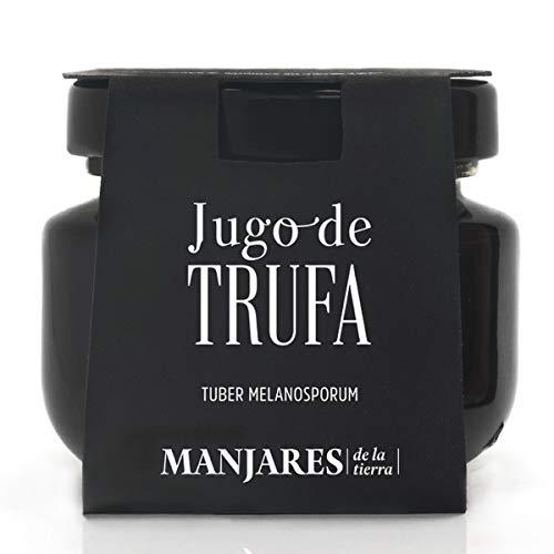 Manjares de la Tierra - Jus aus schwarzer spanischer Trüffel (Tuber melanosporum) - 50 g - Trüffelextrakt aus schwarzer Wintertrüffel aus Teruel - Sarrión, weltweite Trüffelhauptstadt.