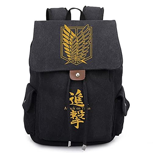 JXEXF Ataque en Titan Anime Backpack Boys Girls Mochila al Aire Libre, Bolsa de Hombros Bolsos de Viaje Daypack, Regalos para niños y niñas (Color : Style B, Size : 36 * 30 * 16cm)