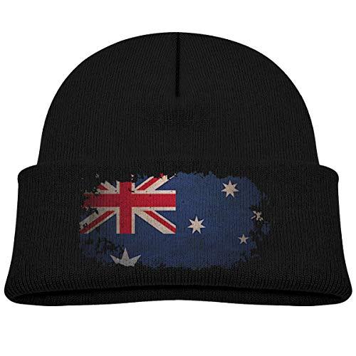 Amoyuan Baby Jongens Kids Meisjes Winter Hoed Australië Vintage Pride Gebreide Hoed Warm Peuter Cap Zwart