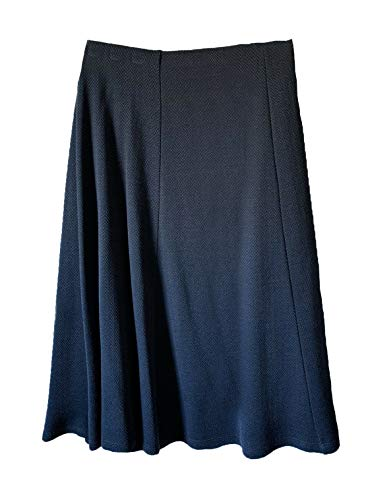 Eastex Navy Pull-On Elasticated Waist Lined A-Line Skirt. Size: 22