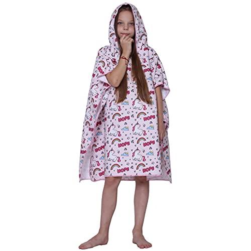 Smilsiny - Toalla de baño infantil con capucha, 80 x 81 cm