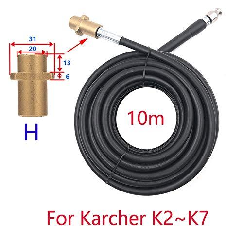 Yongenee 10m de alcantarilla del limpiador de agua de limpieza de la manguera de tubería for para FOR for Karcher Interskol Huter Martillo Nilfisk STIHL Bosch Lavadora de alta presión (Color : Blue)
