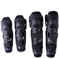 ひざすねプロテクタープロバイカー用のオートバイスポーツレーシング保護膝肘パッドキット 登山用 作業用 膝当て 野球 膝ブレース スケートヒザパッド