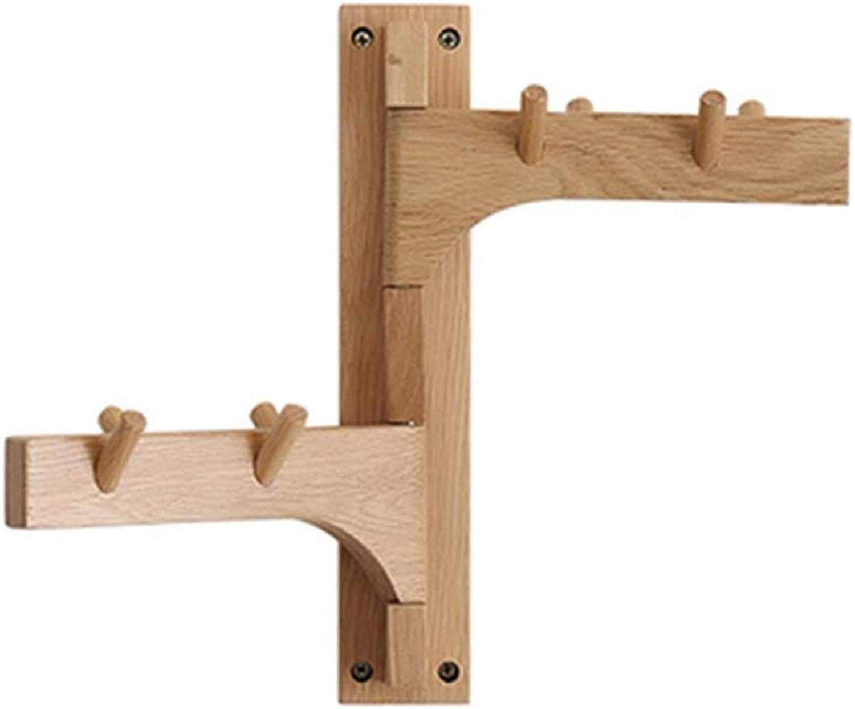 WYQSZ Coat Rack - Creative Solid Wood Wall Coat Rack Solid Wood White Oak Wall Hanger Wood Simple Modern Coat Rack - Coat Rack 8563