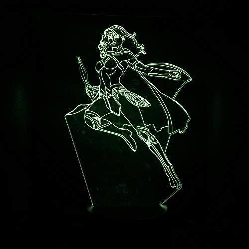 SHJDY Peter Pan nachtlampje, 7 kleuren, 3D-slaapplicht, led-flits, afstandsbediening, geschikt voor de decoratie van de kamer, kerstcadeau