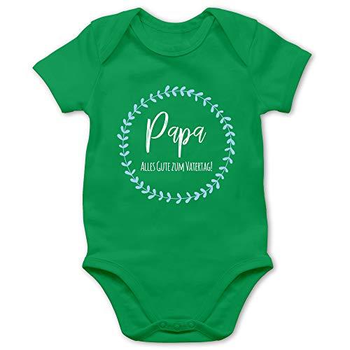 Shirtracer Vatertagsgeschenk Tochter & Sohn Baby - Alles Gute zum Vatertag - 1/3 Monate - Grün - Alles Liebe zum Vatertag - BZ10 - Baby Body Kurzarm für Jungen und Mädchen