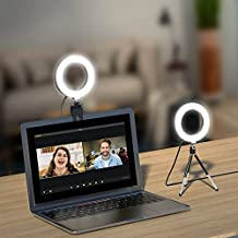 Zoom Light for Laptop & Computer with Tripod Stand, LamToon Small Circle Clip on Ring Light Webcam Halo Lighting for Video Conference, Zoom Meetings, Video Calls, Streaming, Work from Home, etc.