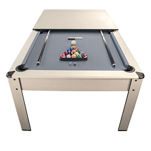 Billar Harmony Convertible en Mesa - 206,5 x 116,5 x 80 cm Color Haya-Alfombra Gris