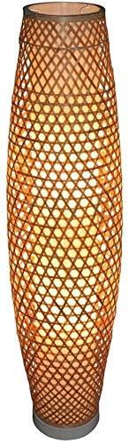 ZTMN Home Lighting Bambus Wicker Rattan Shade Vase Stehlampe Leuchte Rustikale asiatische japanische nordische Kunst Licht (Farbe: Braun)