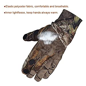 Eamber Camouflage Hunting Gloves Full Fingerfingerless Gloves Pro Anti Slip Camo Realtree Glove Archery Accessories Hunting Outdoors M L L