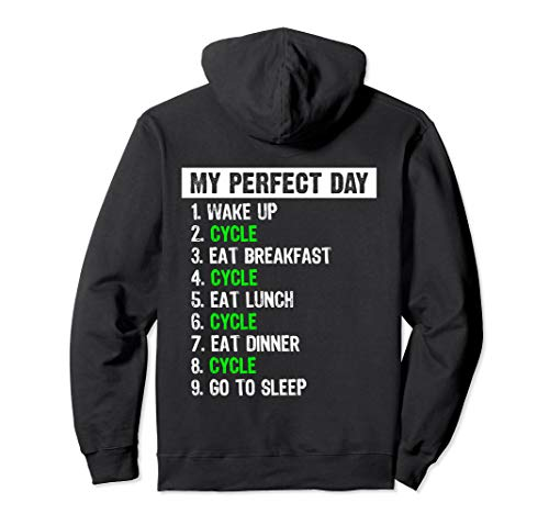 My Perfect Day Funny Bicycle Cycling Gift Pullover Hoodie